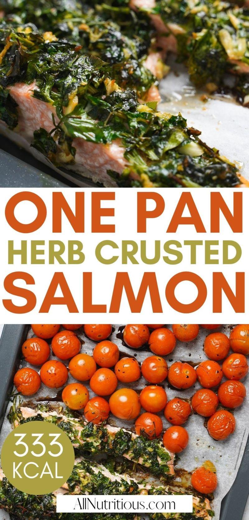 one pan herb crusted salmon