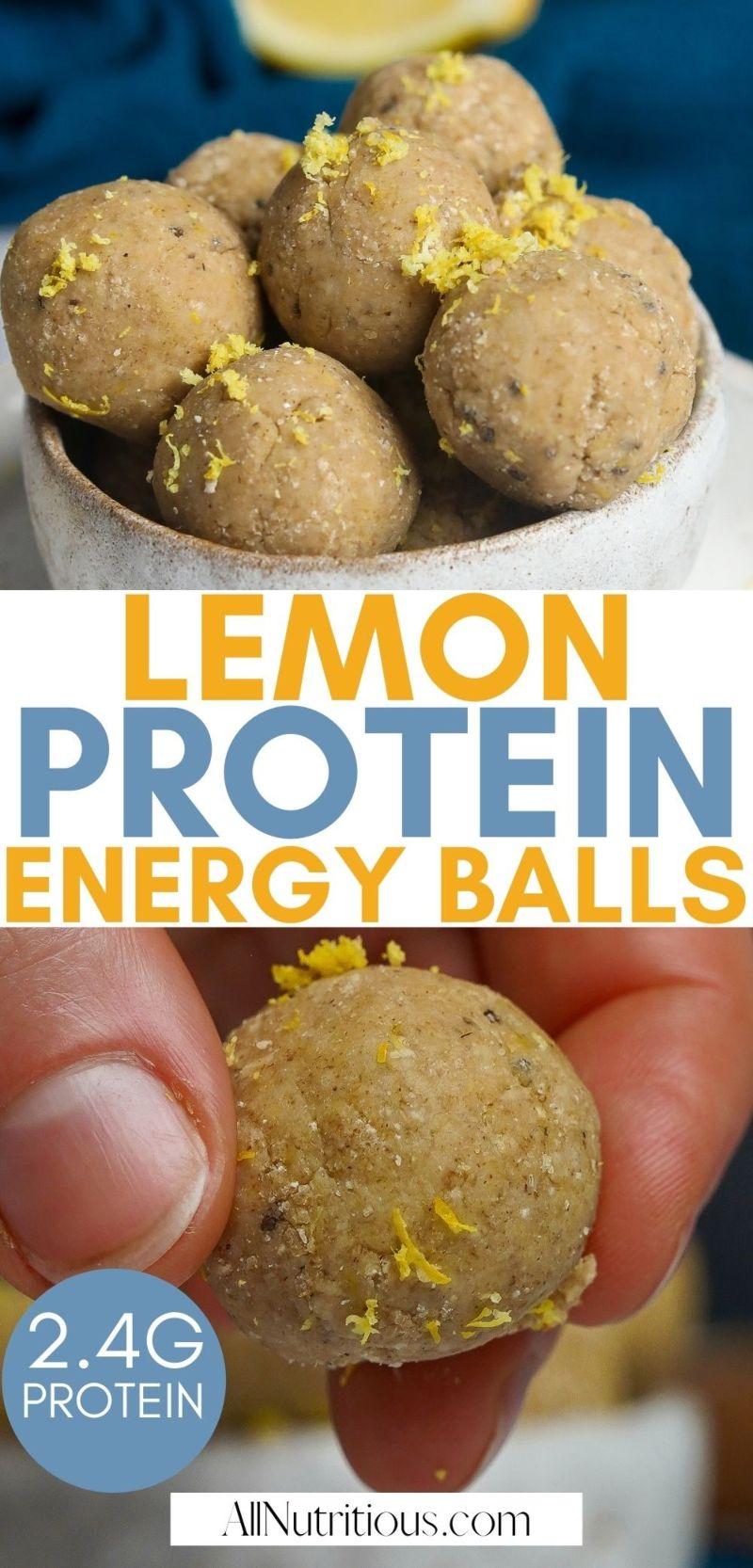 lemon protein energy balls
