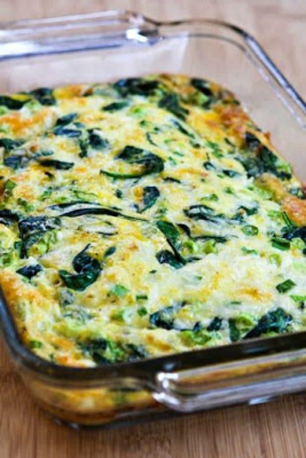 Spinach & Mozzarella Egg Bake