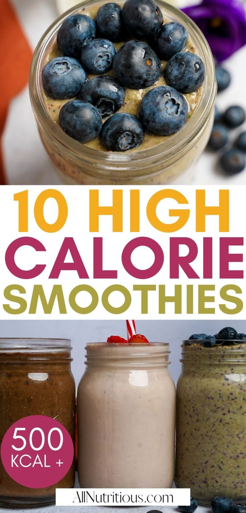 high calorie smoothie recipes