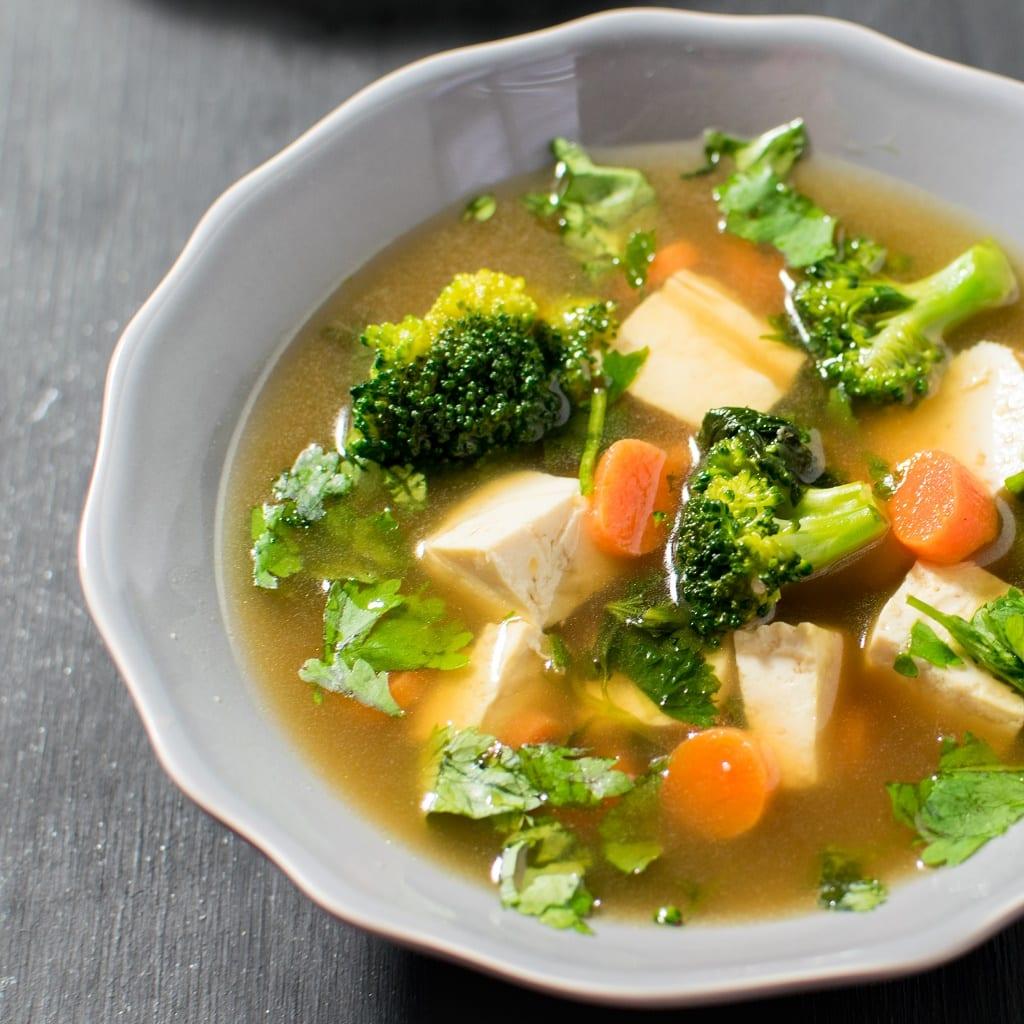 Cilantro Tofu Soup