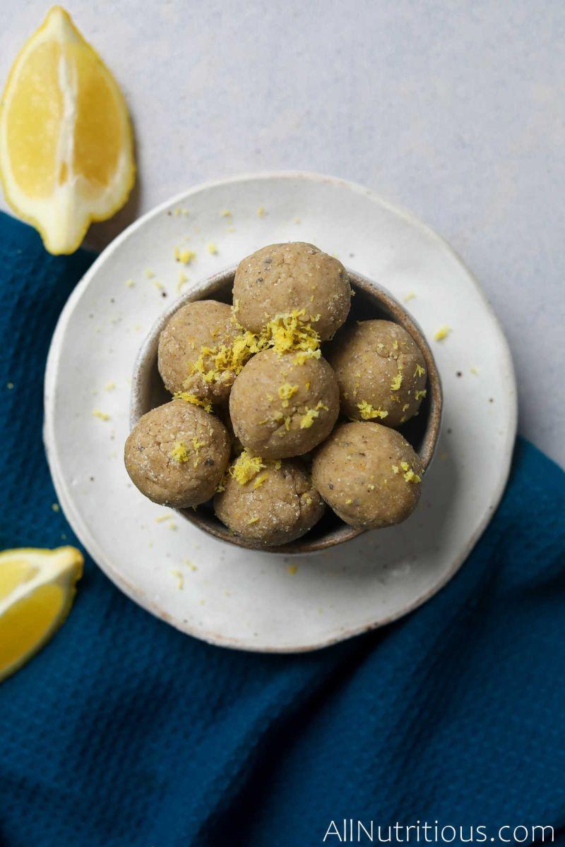 lemon balls in bowl