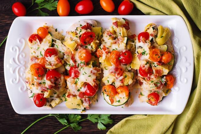 Baked Italian Chicken & Vegetables