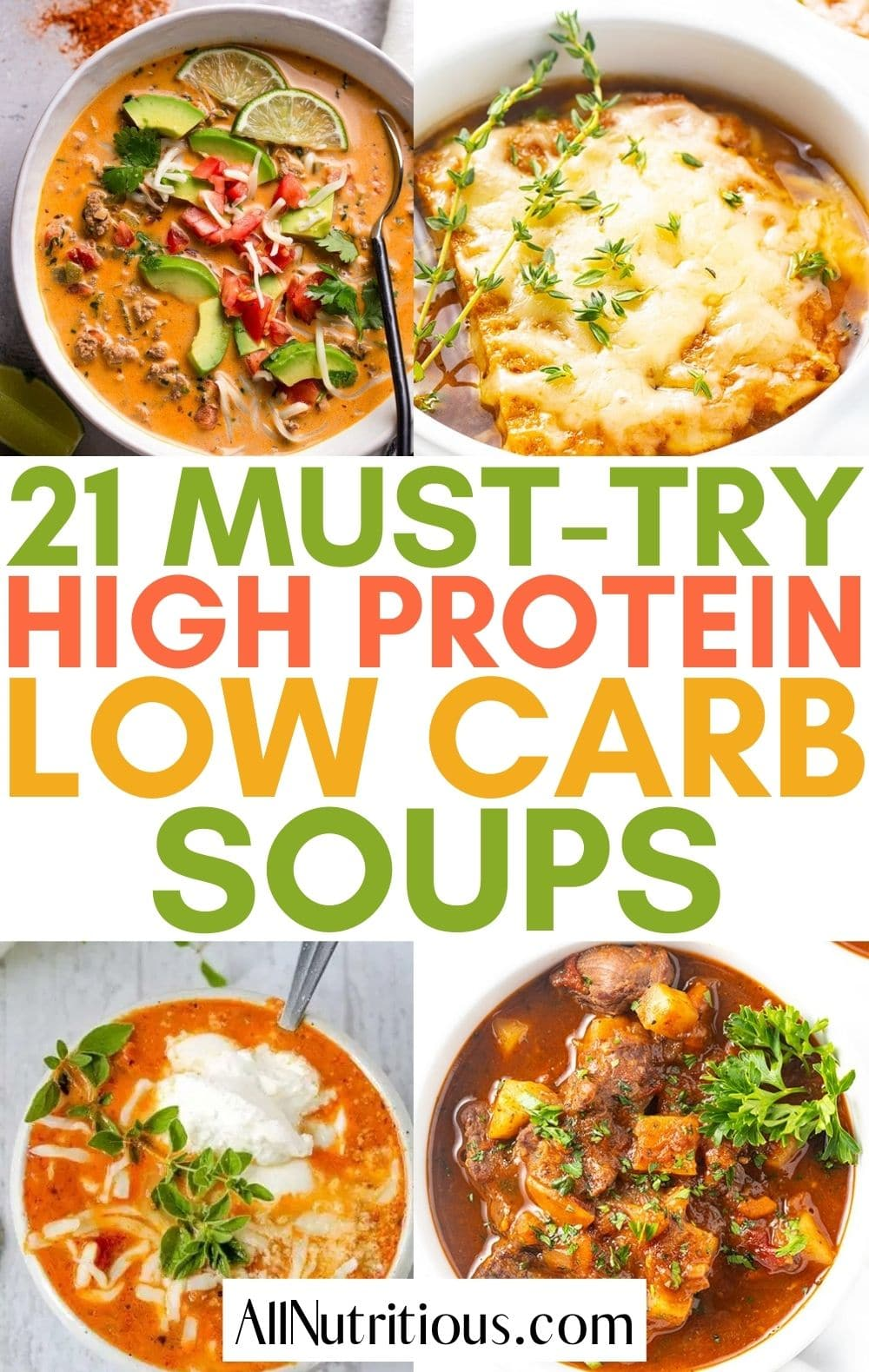 high protein low carb soup recipes