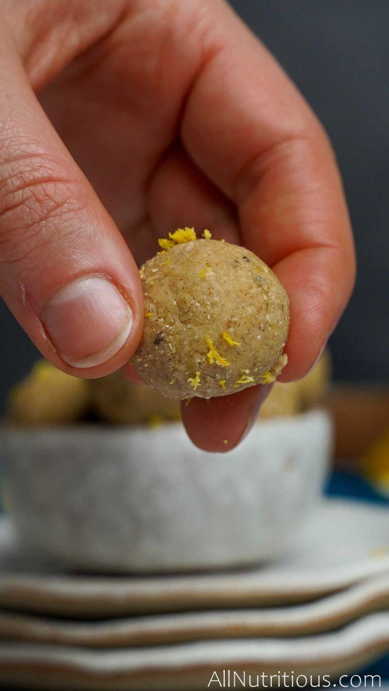 holding lemon ball