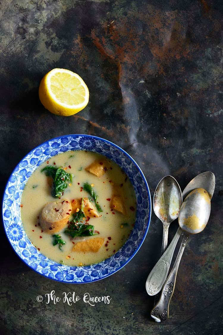 Sausage & Spinach Soup