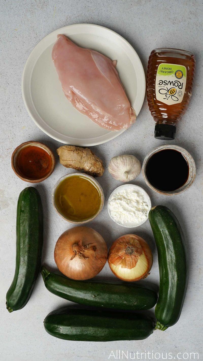 ingredient for zucchini pasta