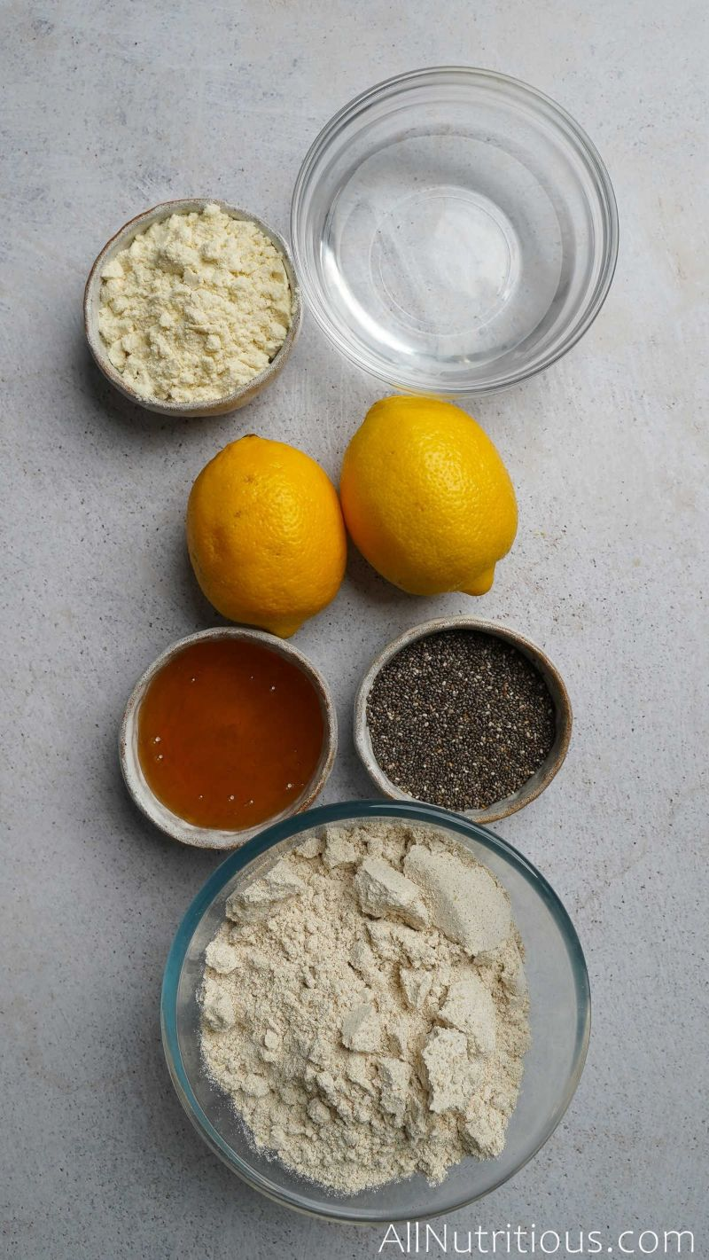 ingredients in bowls with lemons