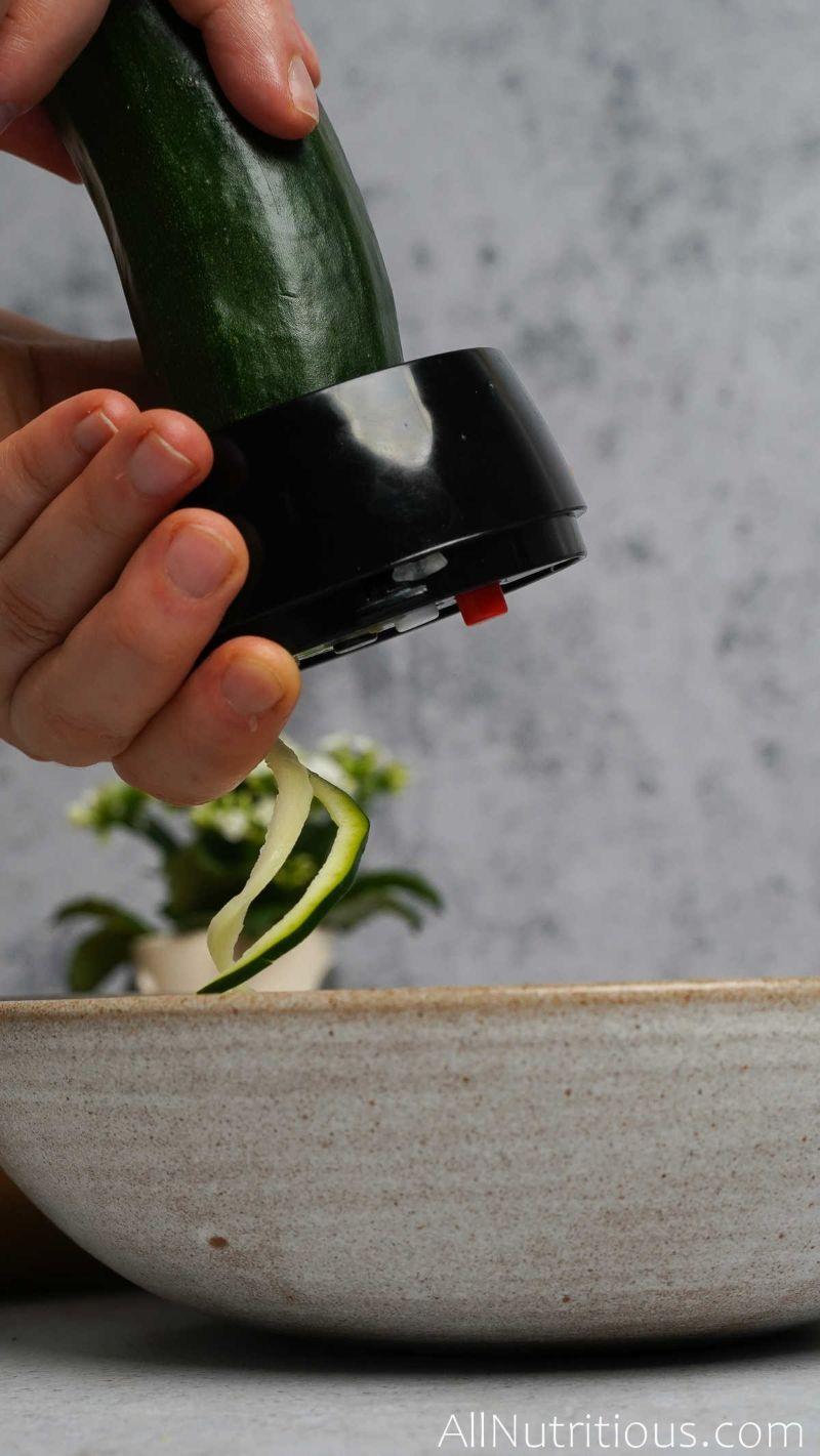 zucchini in spiralizer