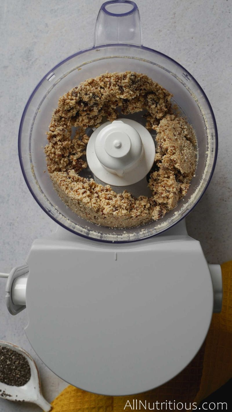 dough mixture in food processor