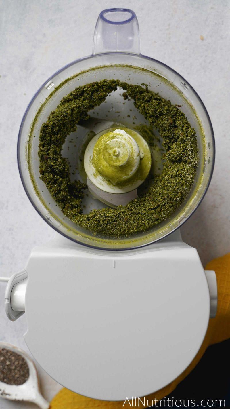 matcha added to dough mix