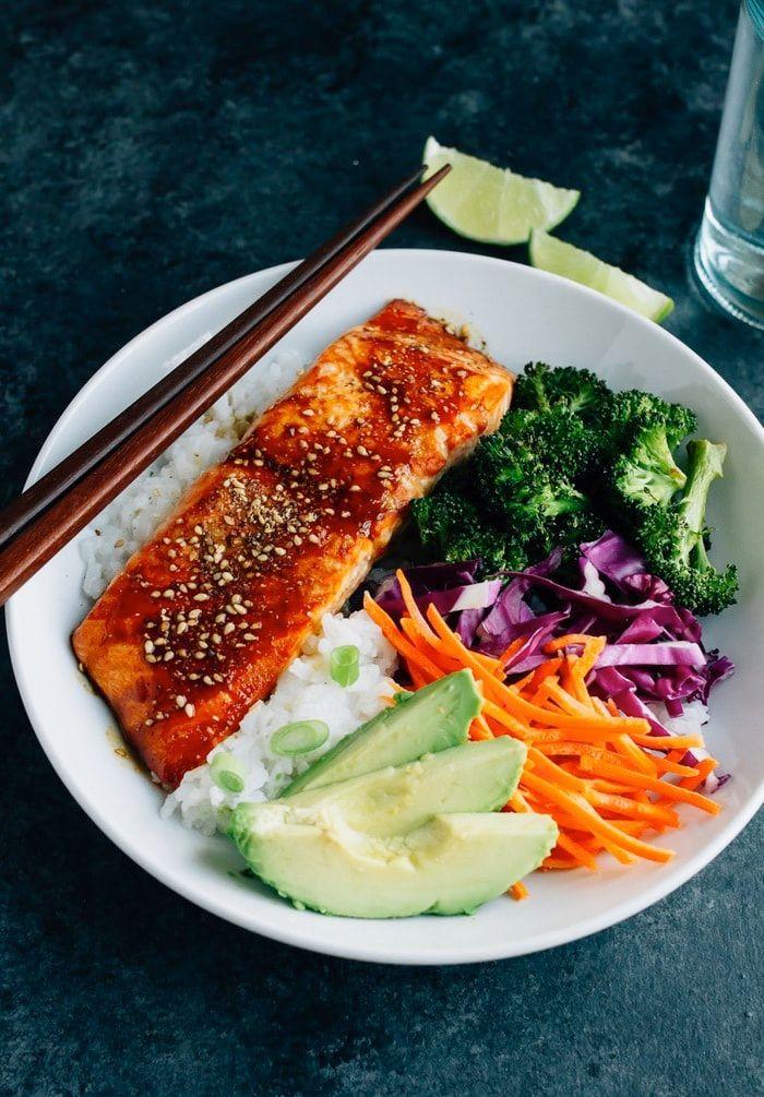 Teriyaki Salmon with Broccoli & Rice