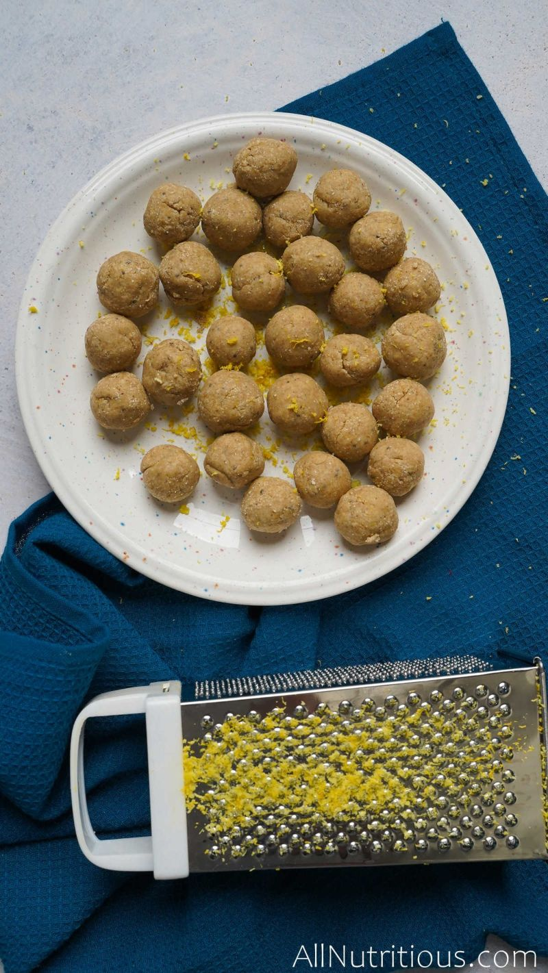 plate of rolled dough balls