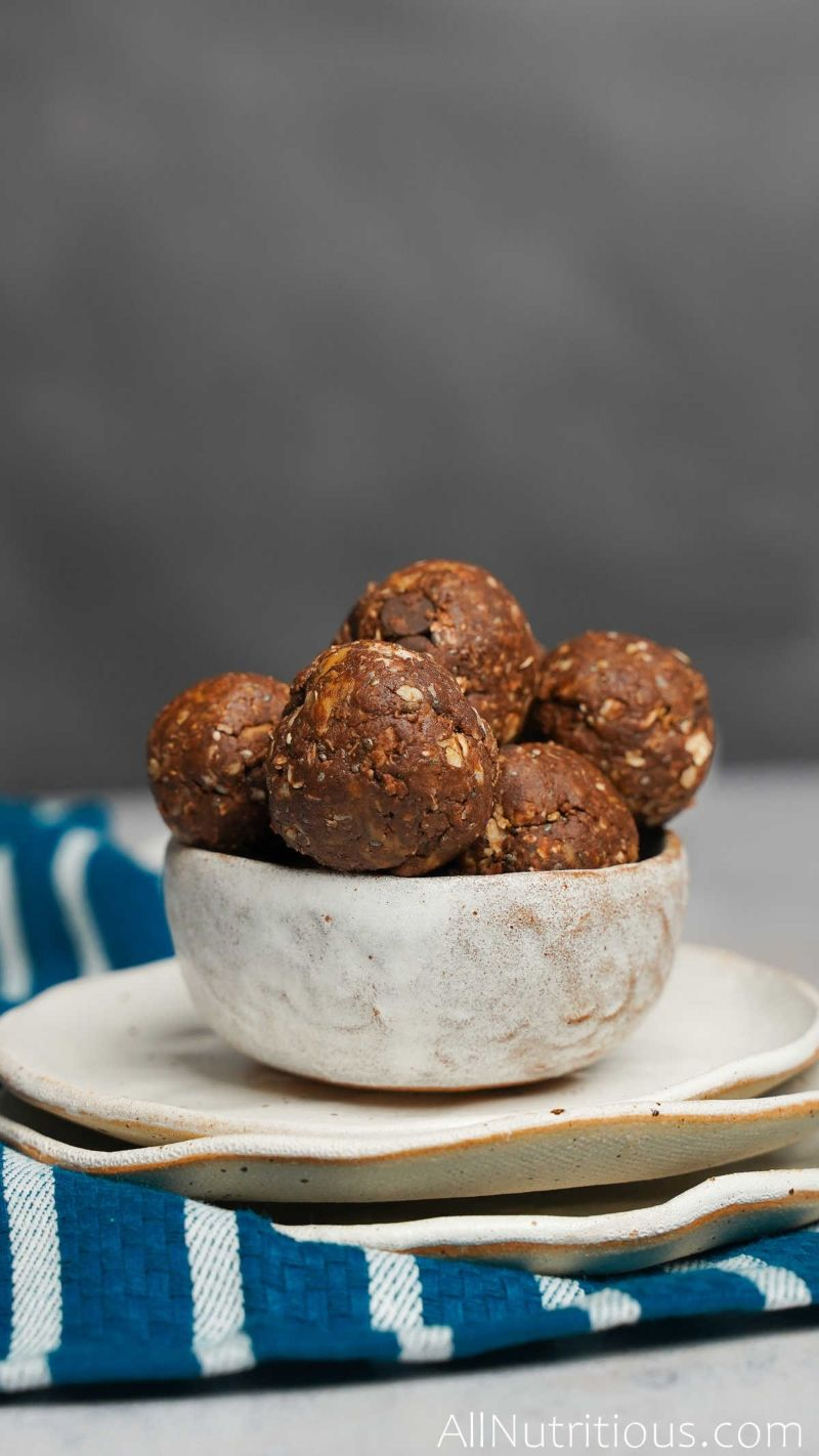 cacao balls in bowl