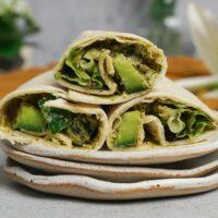 low calorie avocado wrap