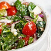 spinach tomato feta salad