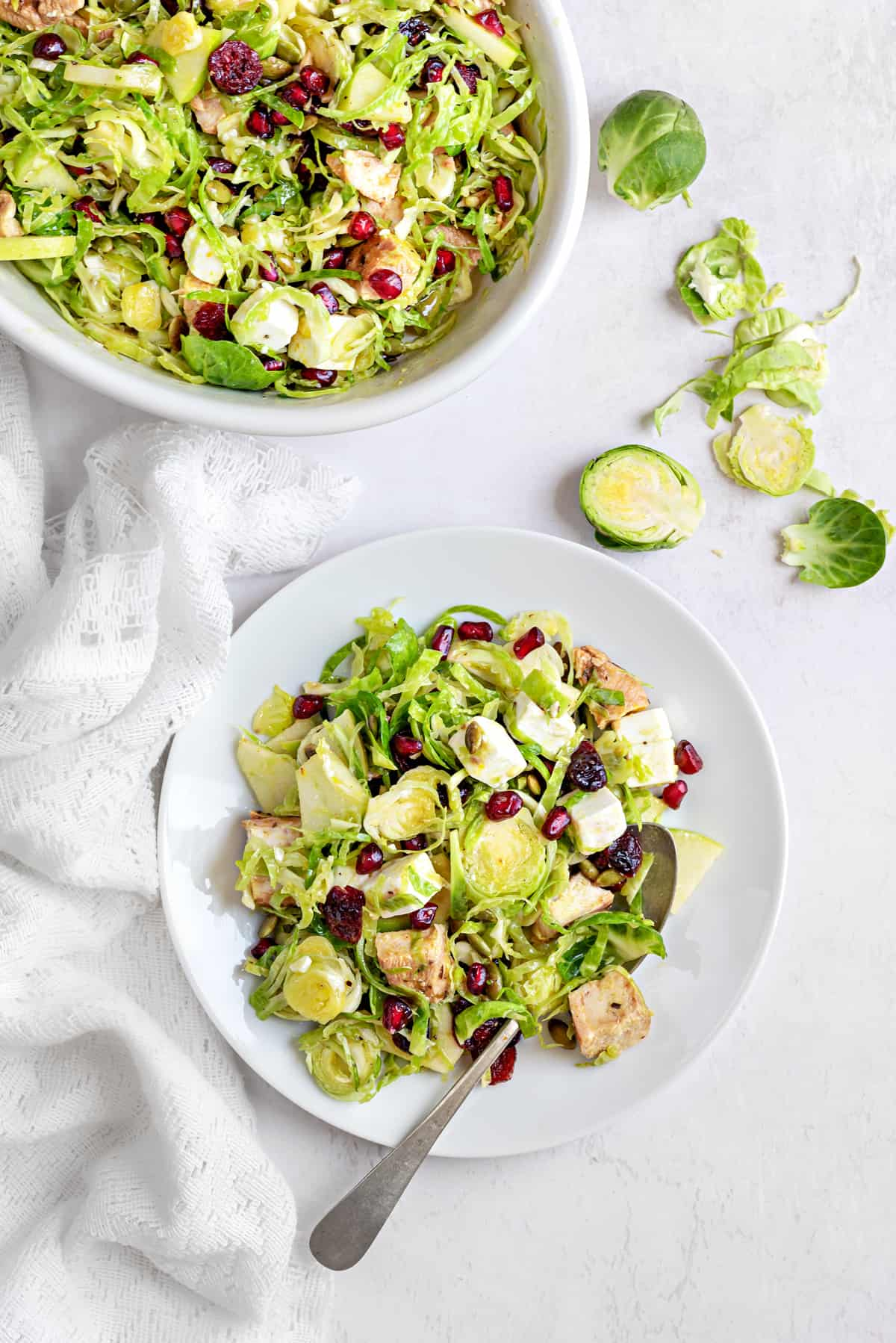 Chicken & Shaved Brussel Sprout Salad