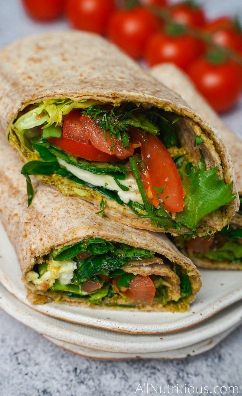 tomato basil wraps