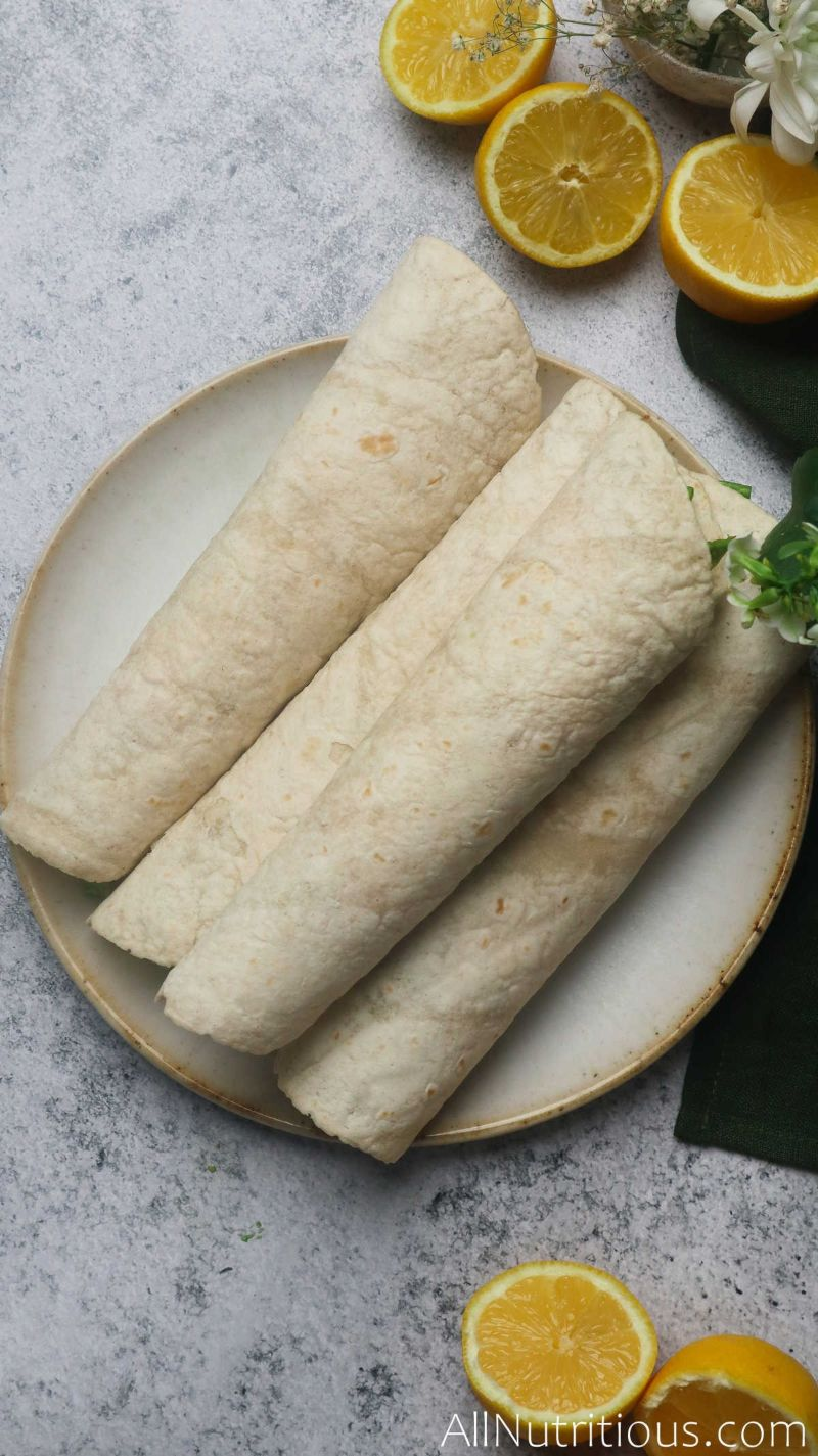 pile of rolled chicken wraps