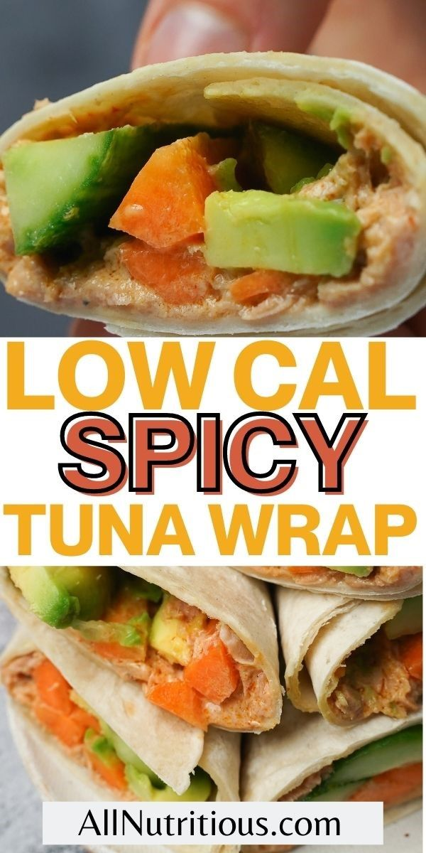 low cal spicy tuna wrap