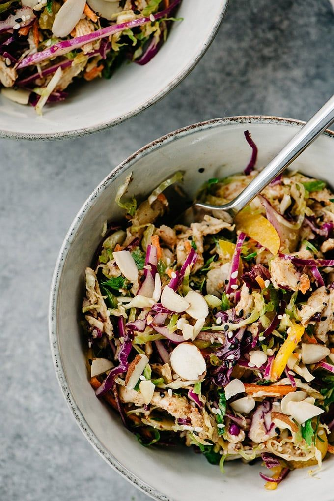 Chicken Salad with Almond Butter Dressing