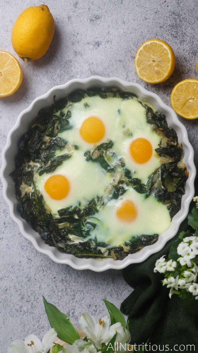 baked eggs in dish