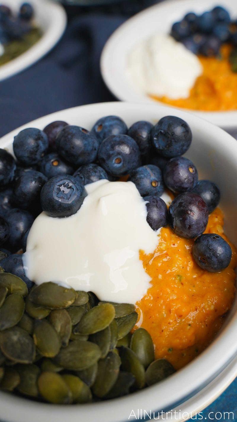 close up breakfast bowl
