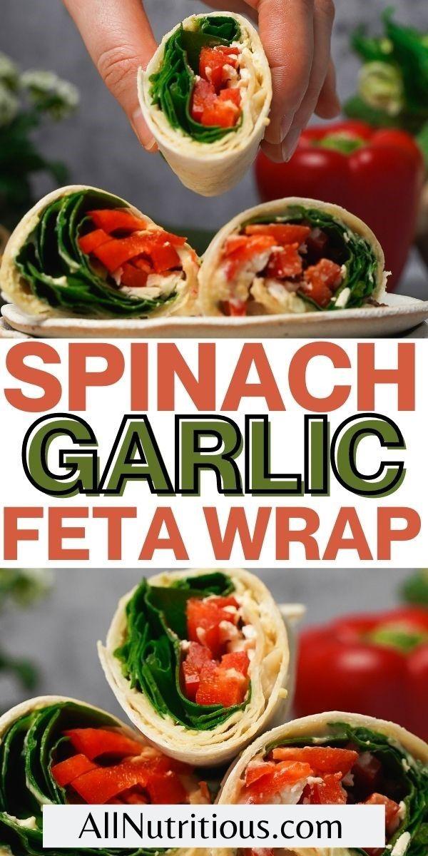 spinach garlic geta wrap