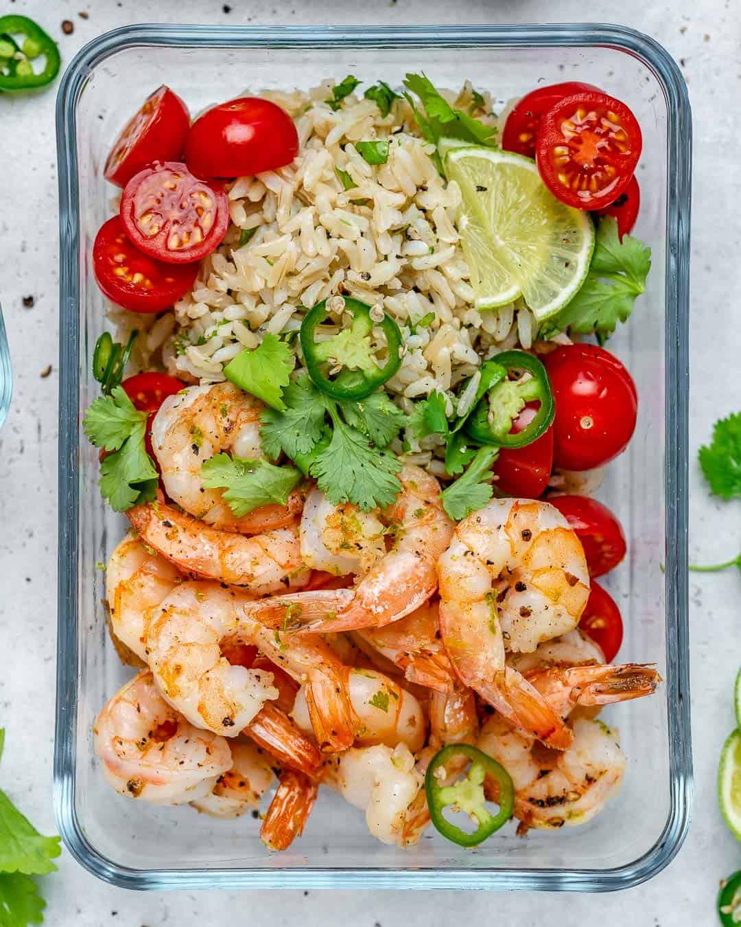 Garlic Lime Shrimp with Cilantro Lime Rice