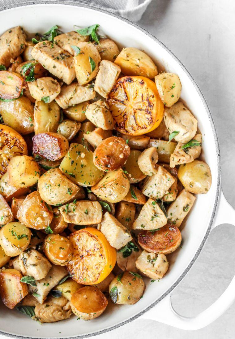 Oregano Lemon Chicken & Potatoes