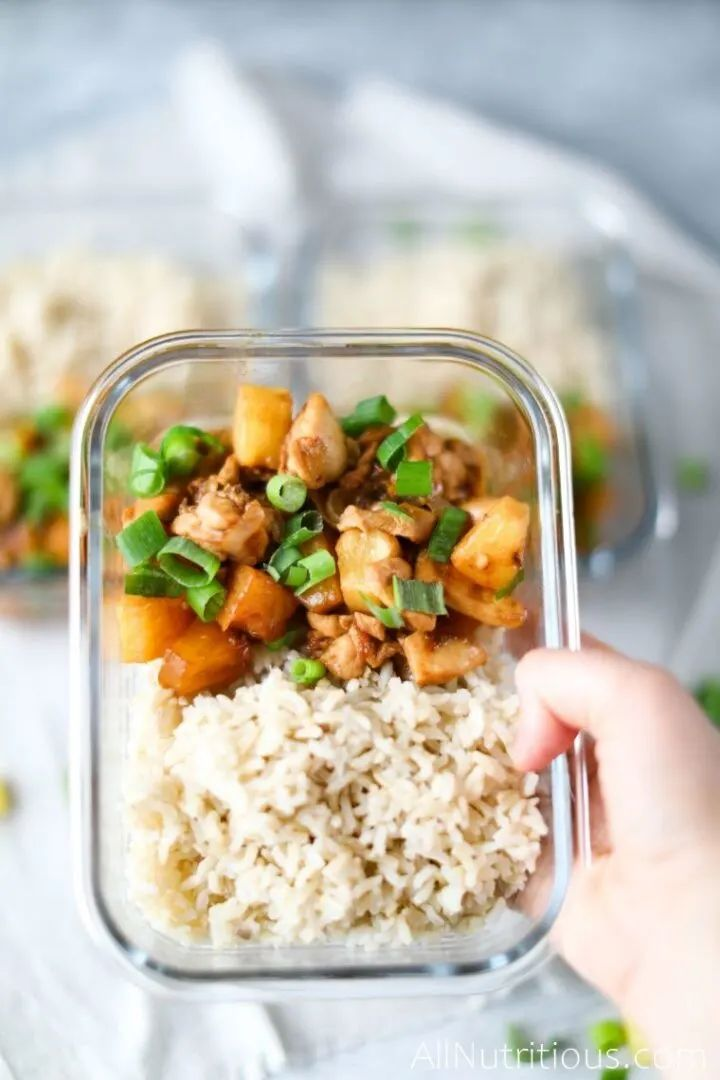 Spicy Pineapple Chicken Meal Prep