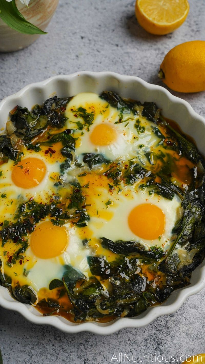 completed baked eggs dish