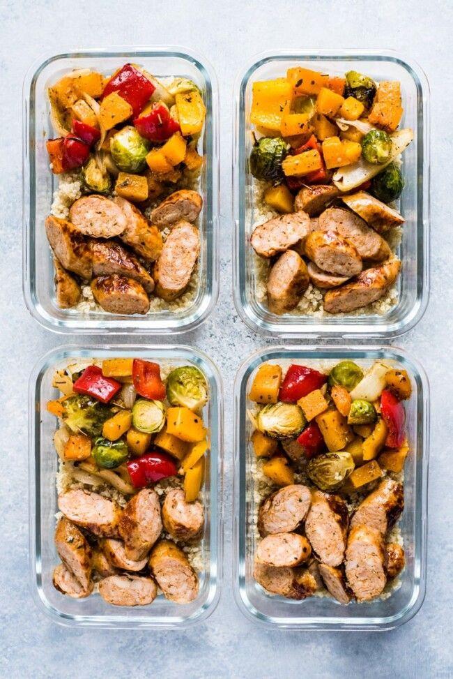 Healthy Sheet Pan Sausage & Veggies