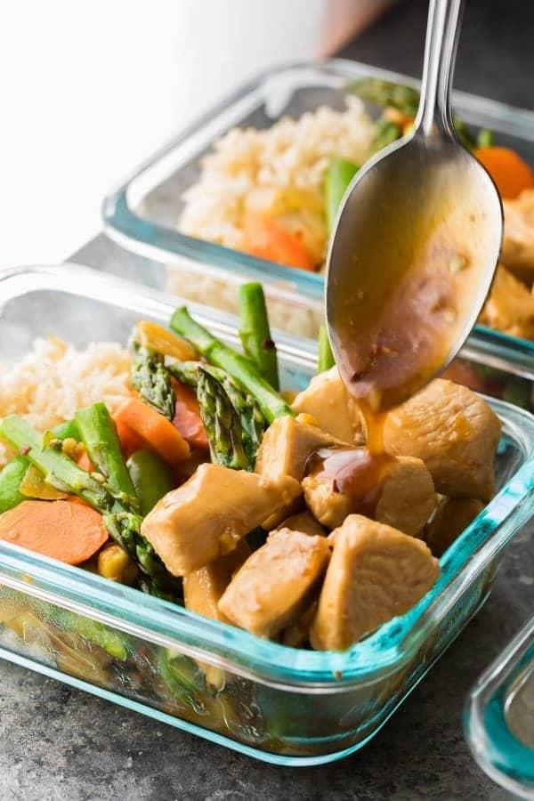 Maple Ginger Chicken Lunch Bowls