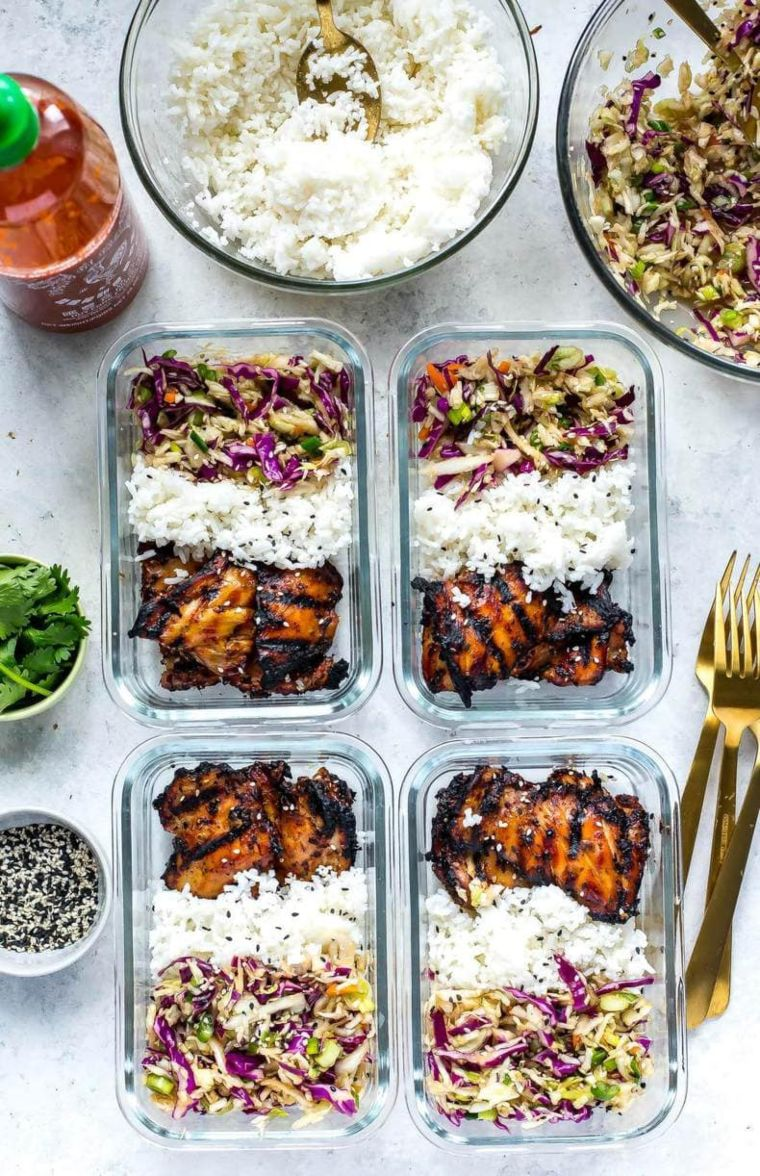 Korean Inspired Chicken Meal Prep Bowls
