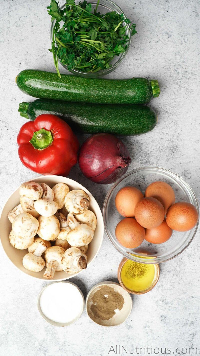 ingredients for egg bake