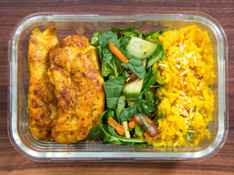 Chicken Curry & Rice Meal Prep