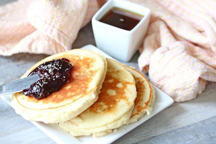 High Protein Yogurt Pancakes