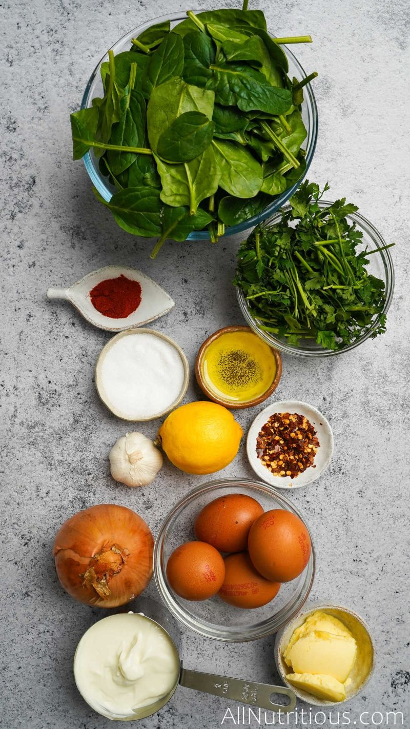 ingredients for egg dish