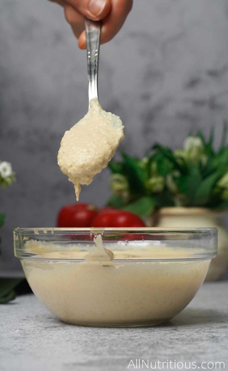 spoonful of hummus