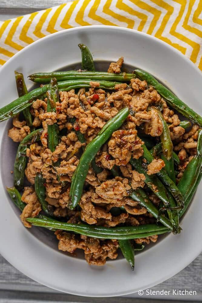 Spicy Ground Turkey & Green Bean Stir Fry