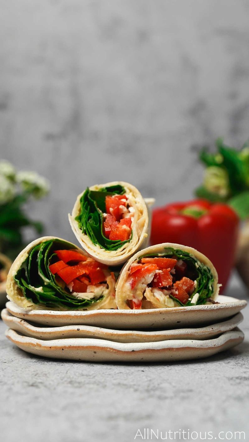 completed feta wraps