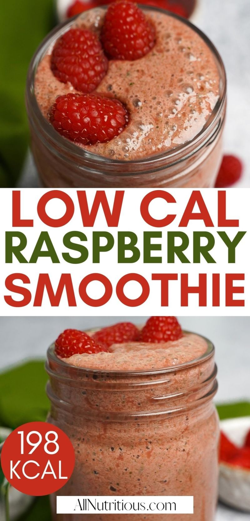 low cal raspberry smoothie