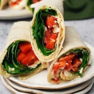 spinach feta wrap recipe
