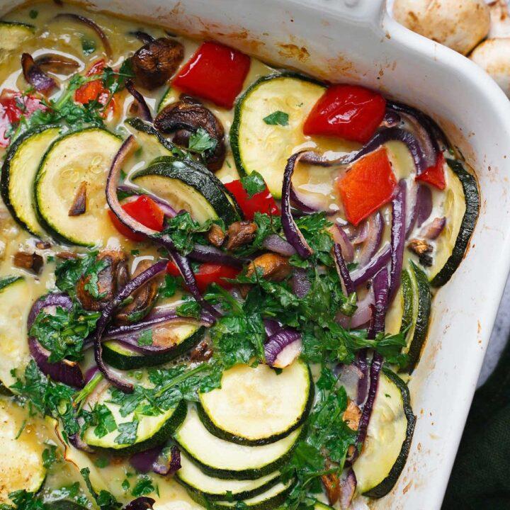 veggie egg bake for breakfast