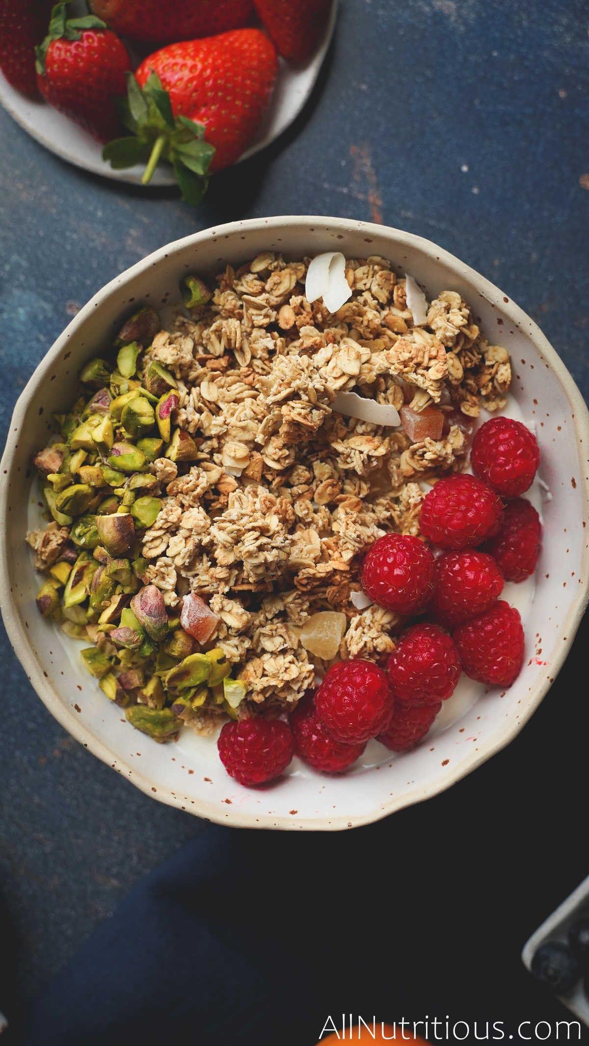 Raspberry & Pistachio Granola Bowl