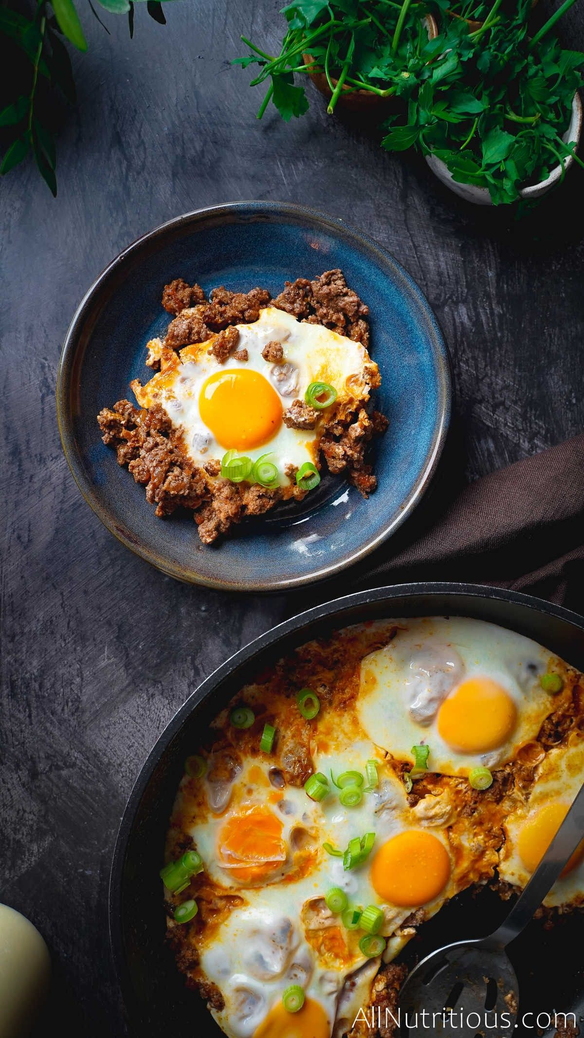 plate with skillet egg
