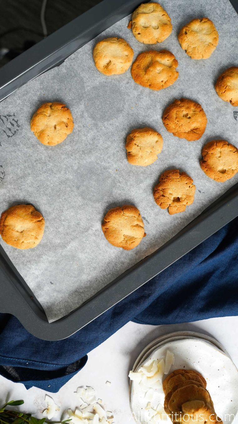 baked cookies on pan