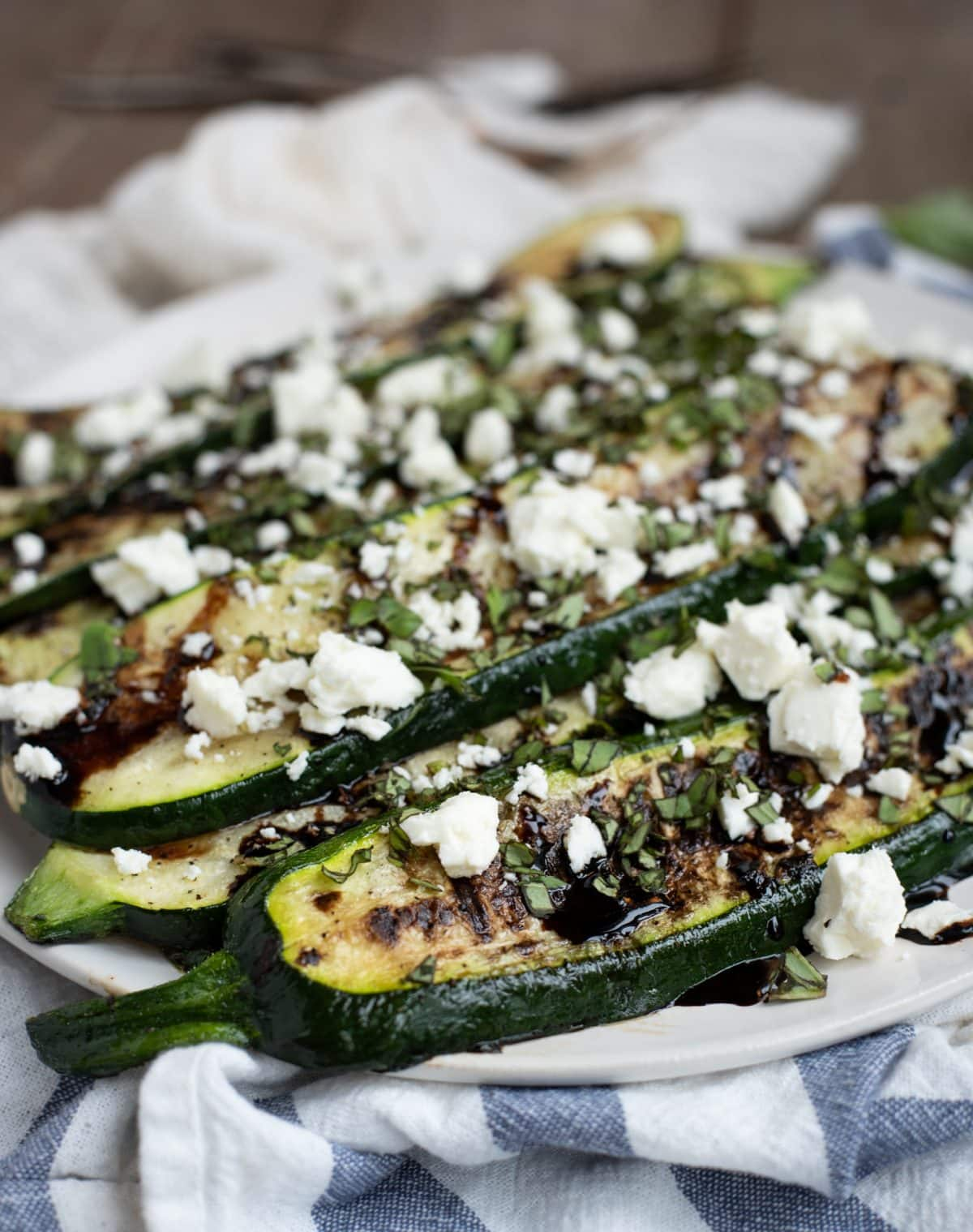 Grilled Zucchini with Balsamic