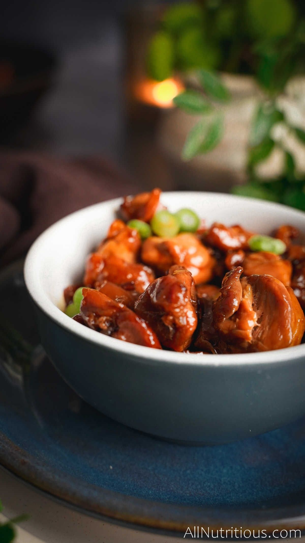 bowl of teriyaki chicken